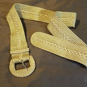 Accessories - New Golden straw belt.